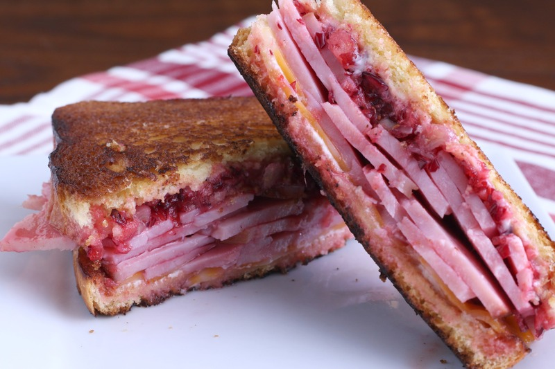 Grilled Ham and Cranberry Sandwiches